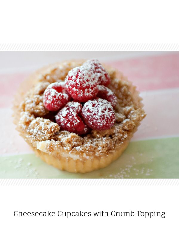 cheesecake cupcakes with crumb topping