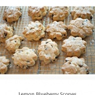 lemon blueberry scone