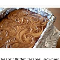 peanut butter caramel brownies