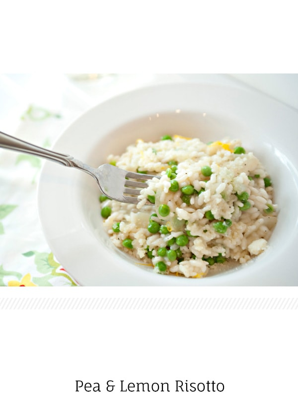 Pea and Lemon Risotto - Baked Bree
