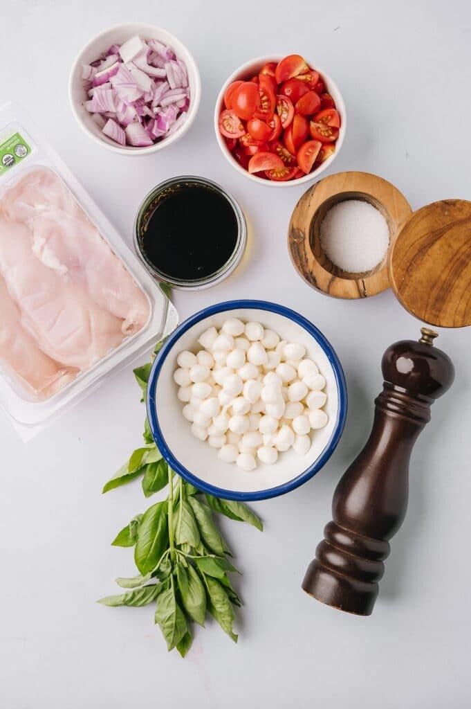 ingredients for caprese chicken