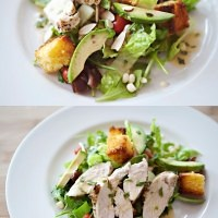market salad with orange tarragon dressing