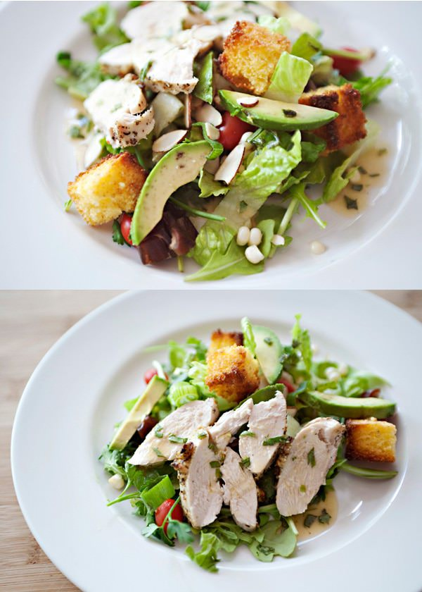 market salad with orange tarragon dressing