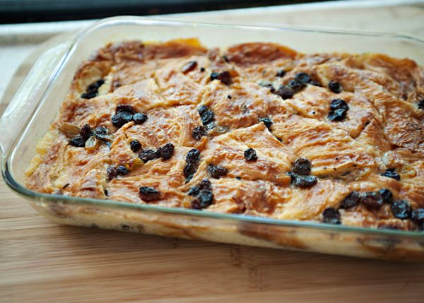 Croissant Bread Pudding - Baked Bree