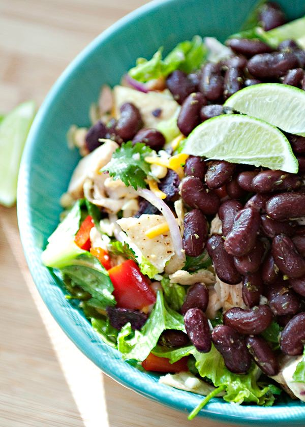 taco salad with honey lime dressing