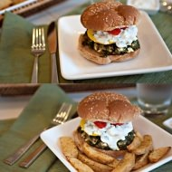 greek spinach burger