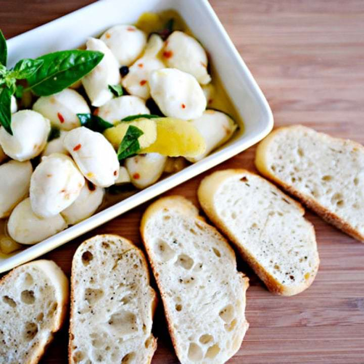 Marinated Mozzarella Baked Bree
