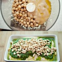 hummus with parsley oil