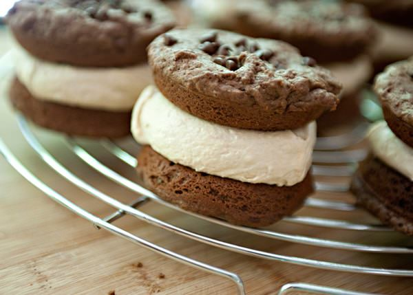 Chocolate Peanut Butter Whoopie Pie - Baked Bree