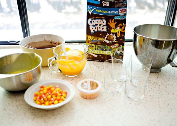 candy corn parfait recipe