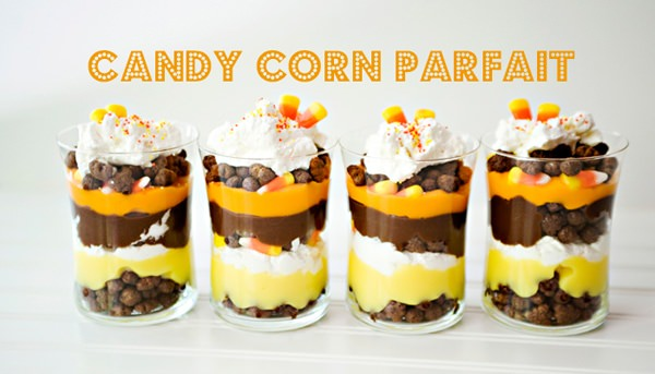 candy corn parfait recipe