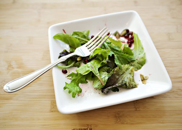 mixed green salad with pomegranate lemon dressing recipe
