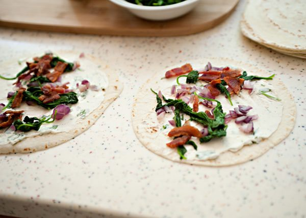 spinach and bacon roll ups recipe