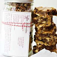 toffee blondies cookies in a jar