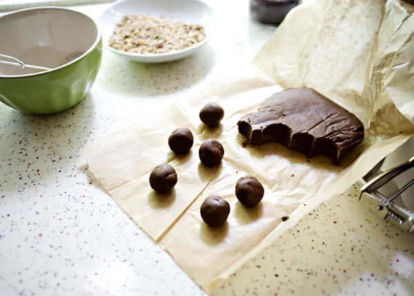 chocolate caramel pecan thumbprint recipe