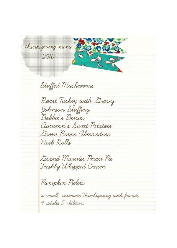 thanksgiving game plan 2010