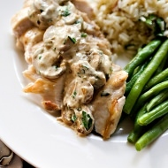 chicken with boursin sauce