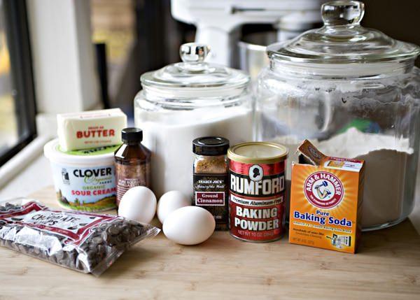 sour cream and chocolate chip coffee cake recipe