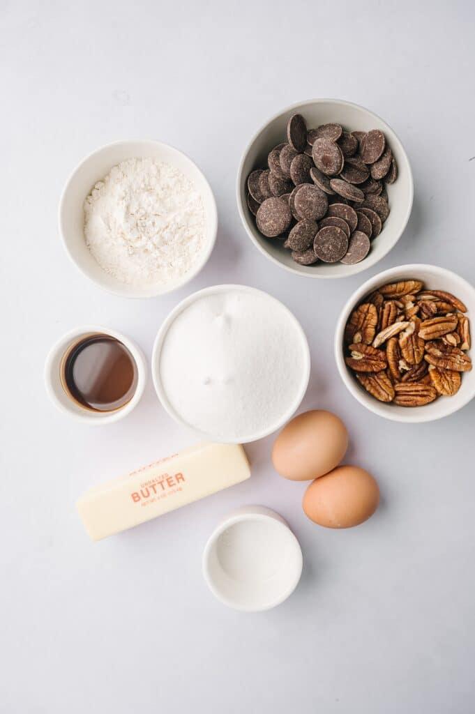 ingredients for matt's crazy brownies