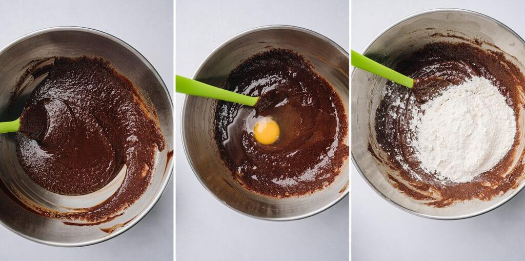 collage of ingredients for matt's crazy brownies