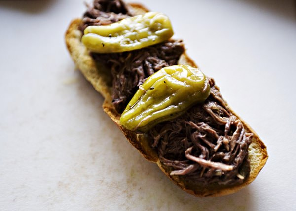 Italian Drip Beef Sandwiches - Baked Bree