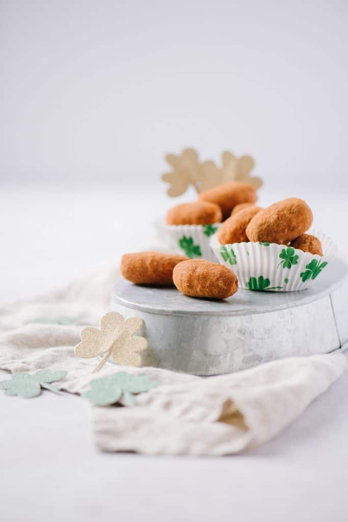 Irish Potato Candy in a dish