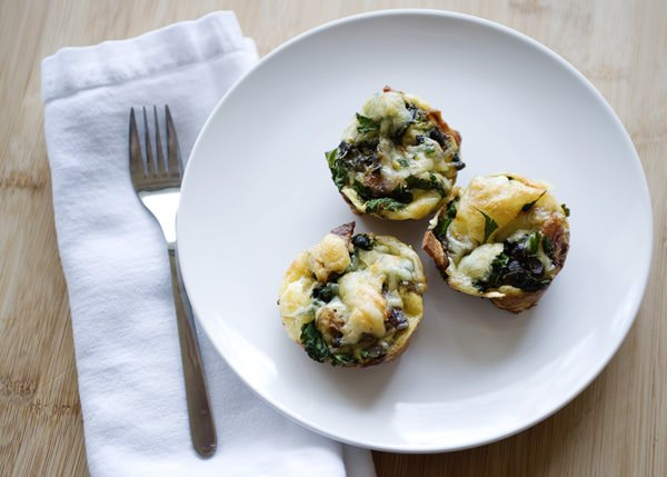 mini spinach and jarlsberg quiche recipe