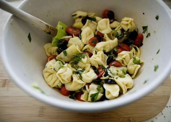 Tortellini Salad with Artichokes, Tomatoes, and Olives - Baked Bree