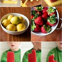 healthy strawberry popsicles