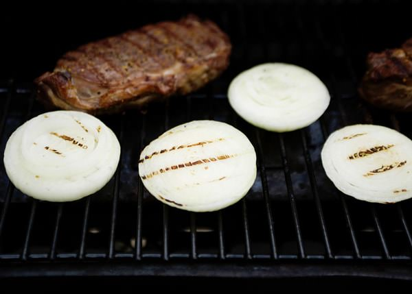 grilled vidalia onion and blue cheese recipe