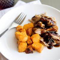 brown sugar and balsamic slow cooker pork
