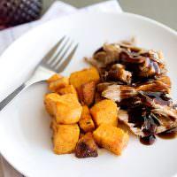 brown sugar and balsamic slow cooker pork