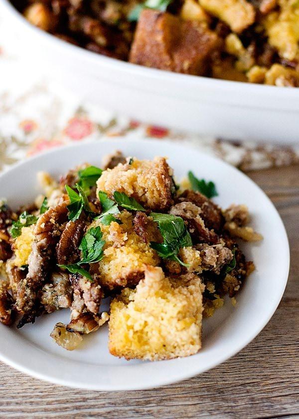 sausage pecan cornbread stuffing