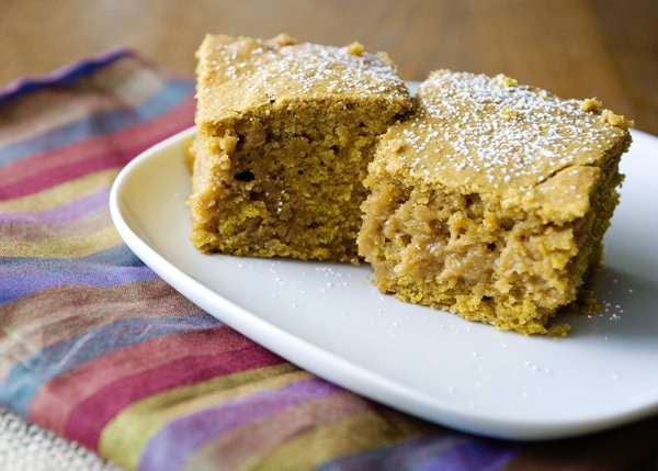 salted caramel pumpkin blondies recipe