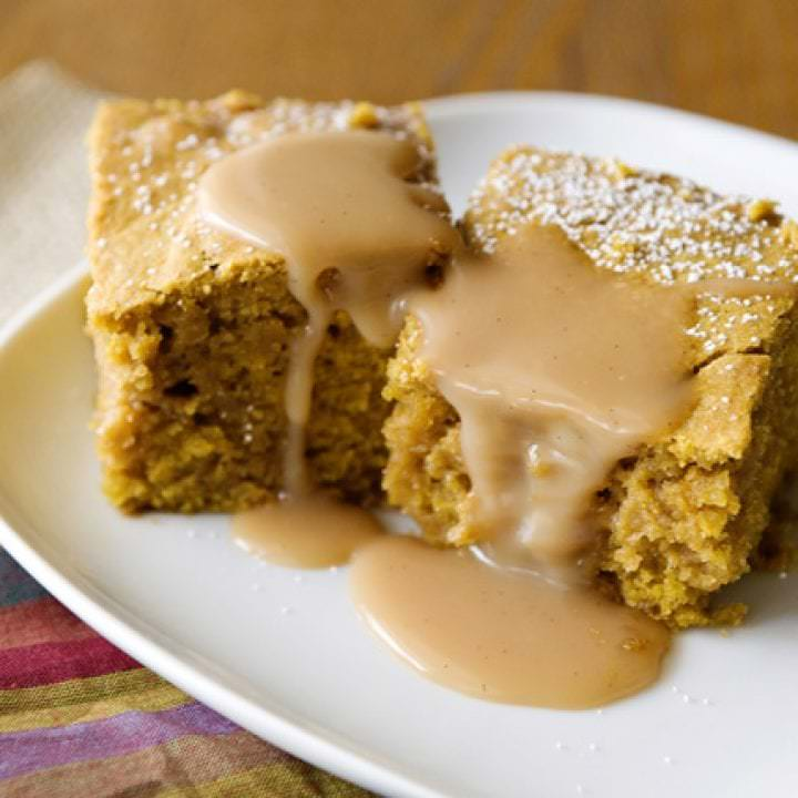 pumpkin salted caramel blondie recipe