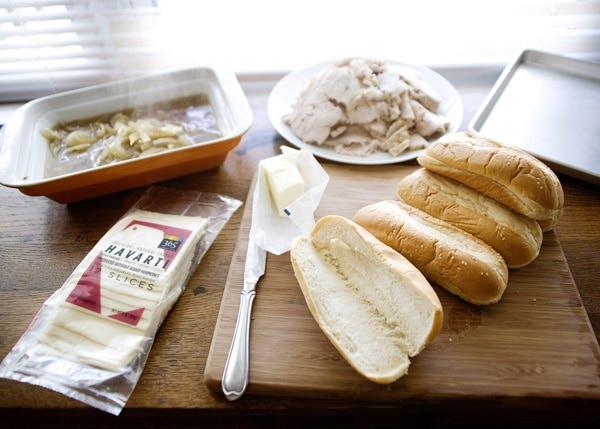 slow cooker turkey dip sandwich recipe