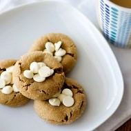 white chocolate ginger drops