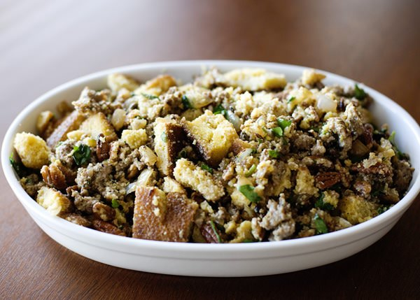 cornbread, sausage, and pecan stuffing recipe