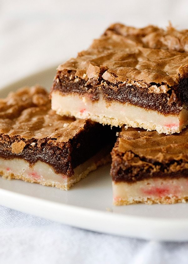Peppermint Brownie Bars - Baked Bree