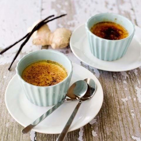 ginger mascarpone creme brulee recipe