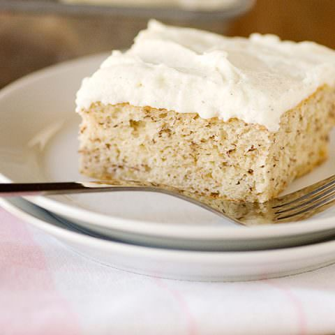 Banana Cake with Vanilla Bean Icing