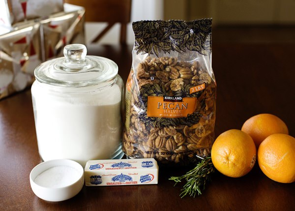 orange and rosemary pecan recipe