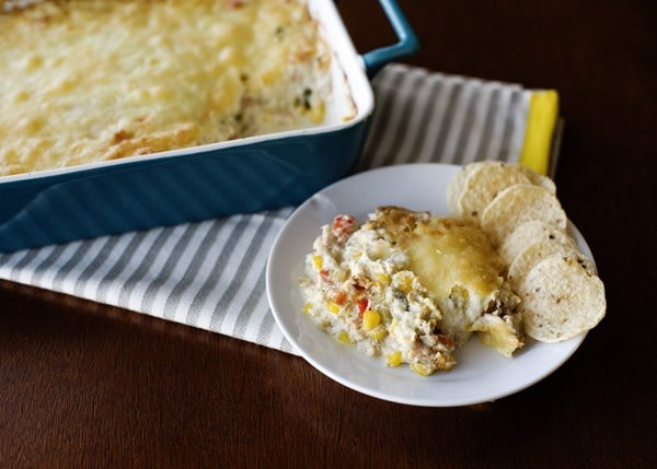 roasted corn and crab dip recipe
