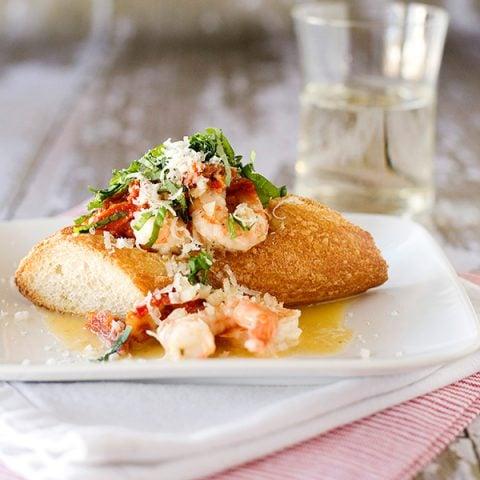 Sundried Tomato and Basil Shrimp Boats