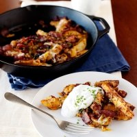 baked chili cheese fries with bacon and ranch dressing recipe