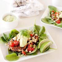 black bean cakes with corn salsa and avocado sauce recipe