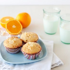 orange and white chocolate muffins recipe