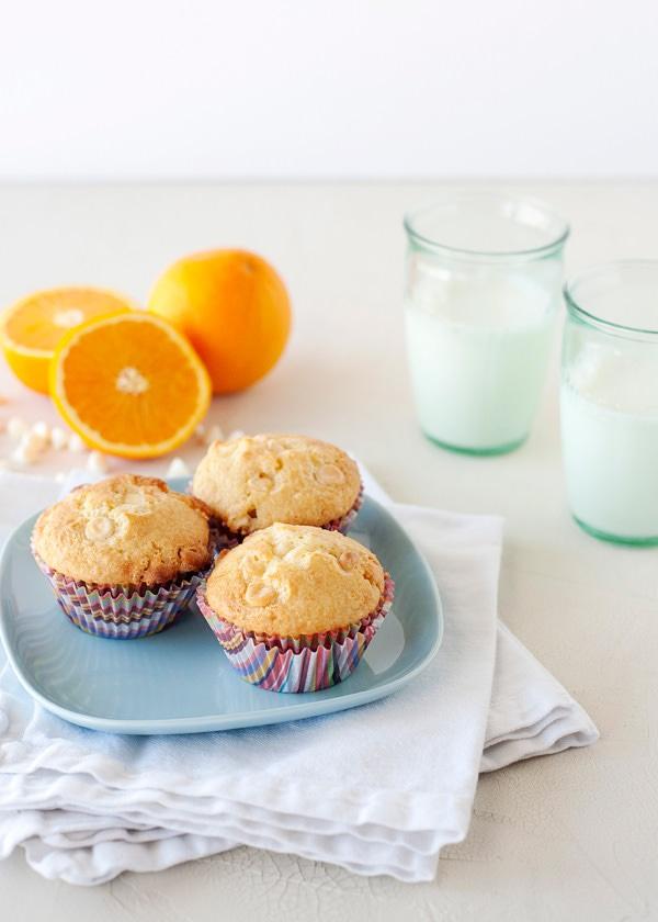orange and white chocolate muffins recipe