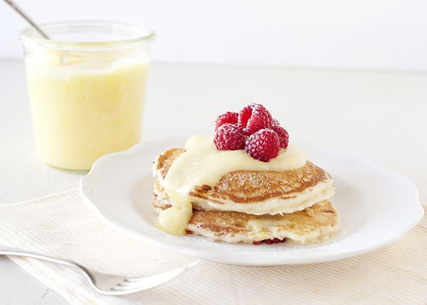 lemon raspberry pancakes recipe