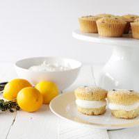 Meyer Lemon Thyme Cupcakes with Honey Cream